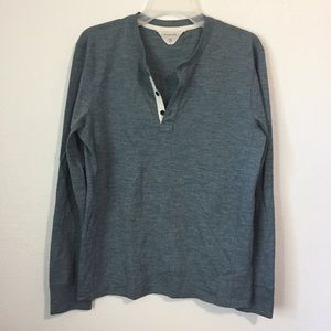 Rag & Bone Slate Gray Grey 3 Button Henley Shirt S